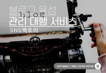 SNS팩토리_블로그육성관리대행