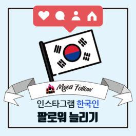 인스타그램-팔로워늘리기-한국인